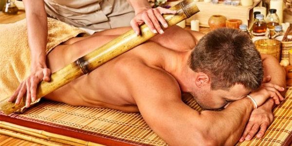 Массаж банками из бамбука
